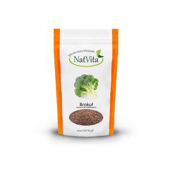 brokuł nasiona do kiełkowania - opakowanie