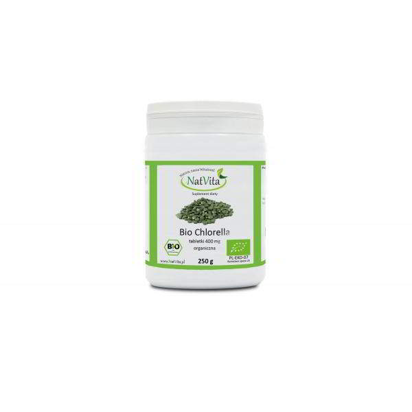 chlorella tabletki 400mg bio - pojemnik