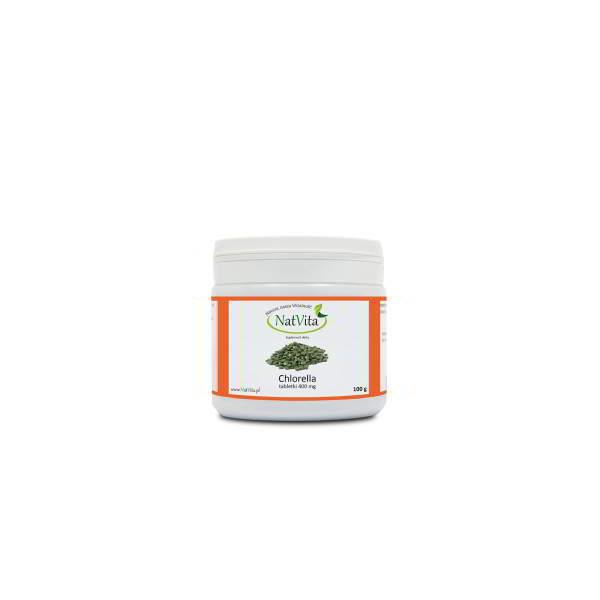 chlorella tabletki 400mg - pojemnik