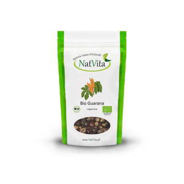 guarana bio całe nasiona - opakowanie