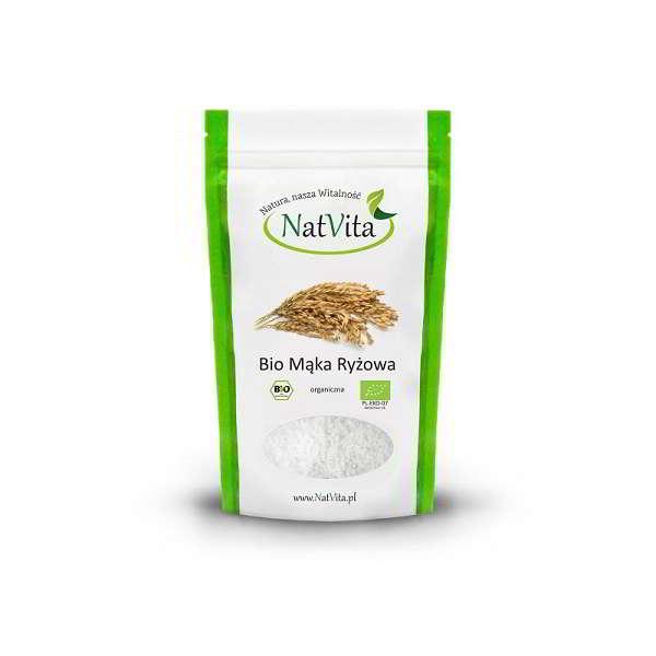 mąka ryżowa bio pełnoziarnista - opakowanie