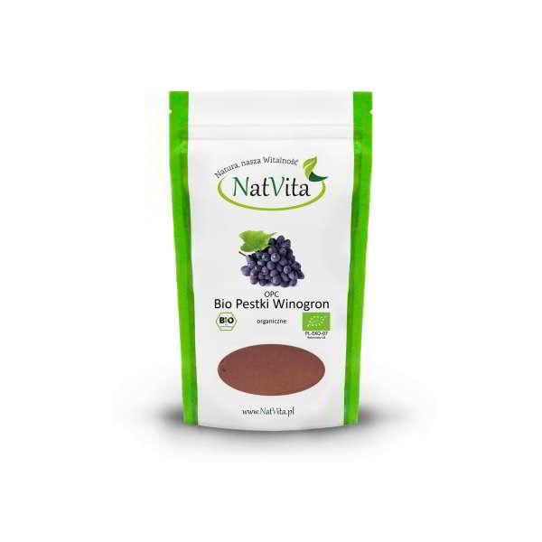 opc bio pestki winogron mielone - opakowanie