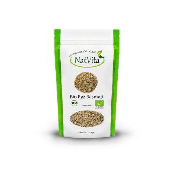 ryż basmati bio brązowy - opakowanie