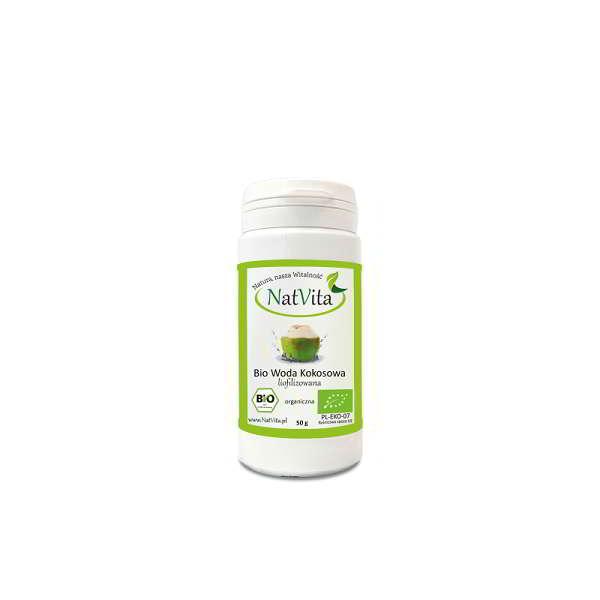 woda kokosowa bio liofilizowana - opakowanie